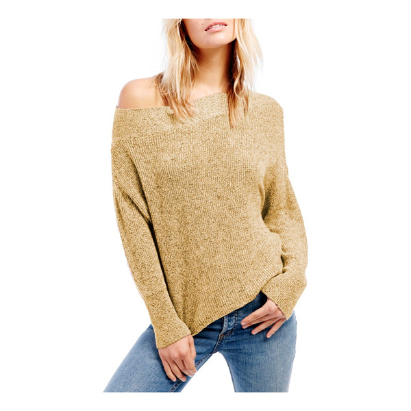 FREE PEOPLE alana pullover sweater - Richly colored marled yarns create tantalizing dimension on...