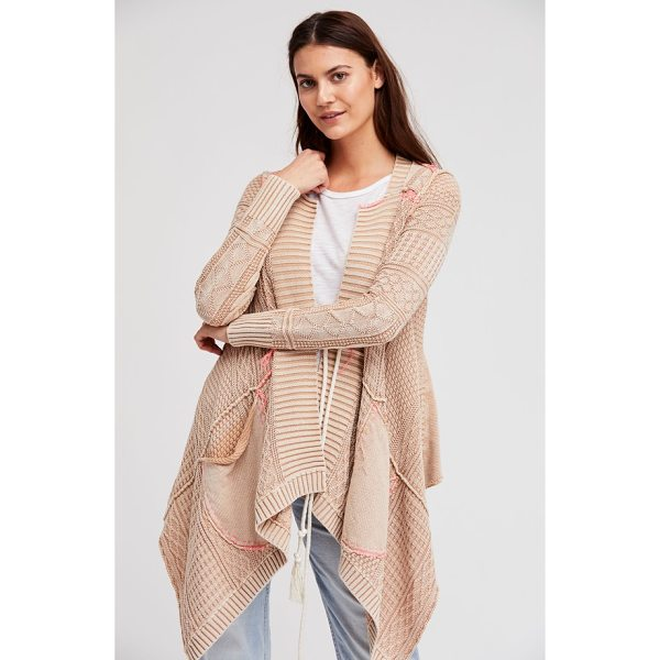 FREE PEOPLE all washed out cardigan - A tasseled tie fastens this billowy cardigan constructed...