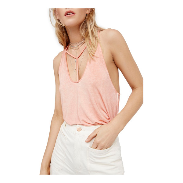 FREE PEOPLE amelia tank - Perfectly slinky and a little sporty, this stretch-knit...