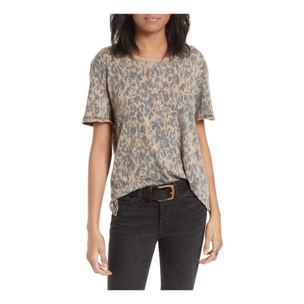 FREE PEOPLE army tee - A faded camo print adds vintage-inspired character to a...