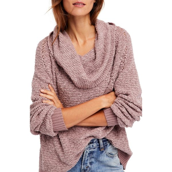 FREE PEOPLE by your side sweater - Slubbed cotton-blend yarns create the rustic texture of a...