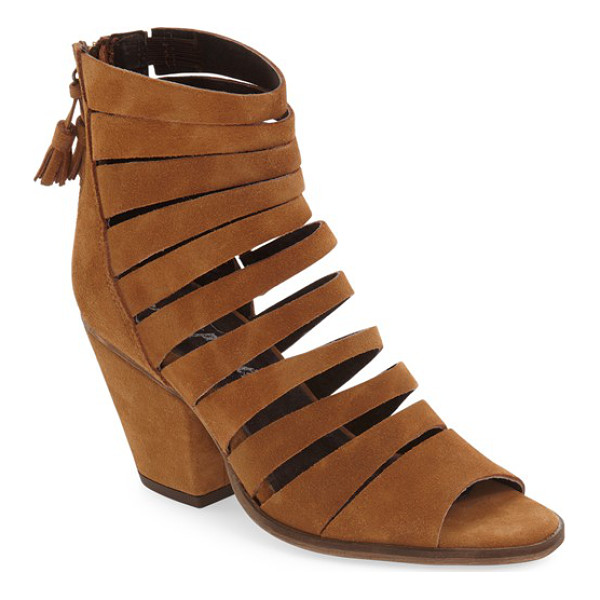FREE PEOPLE 'cayman' strappy sandal - Thick straps cut from soft suede distinguish a versatile...