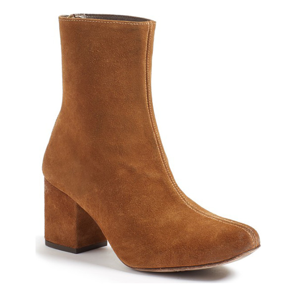 FREE PEOPLE cecile block heel bootie - Add a bit of retro attitude to your everyday style with a...
