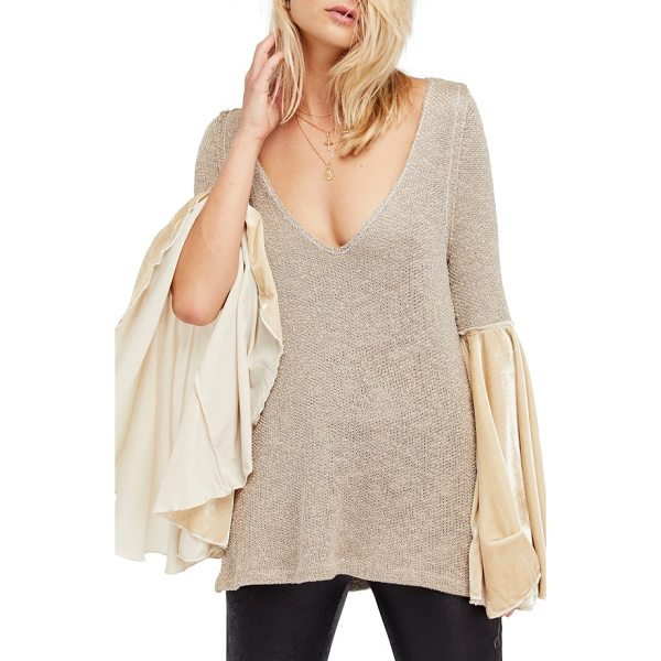 FREE PEOPLE celestial bell sleeve sweater - Turn up the drama while staying incredibly comfy in this...