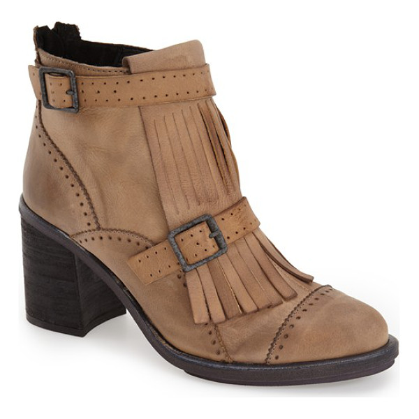 FREE PEOPLE circle back bootie - Kiltie fringe and traditional broguing lend...