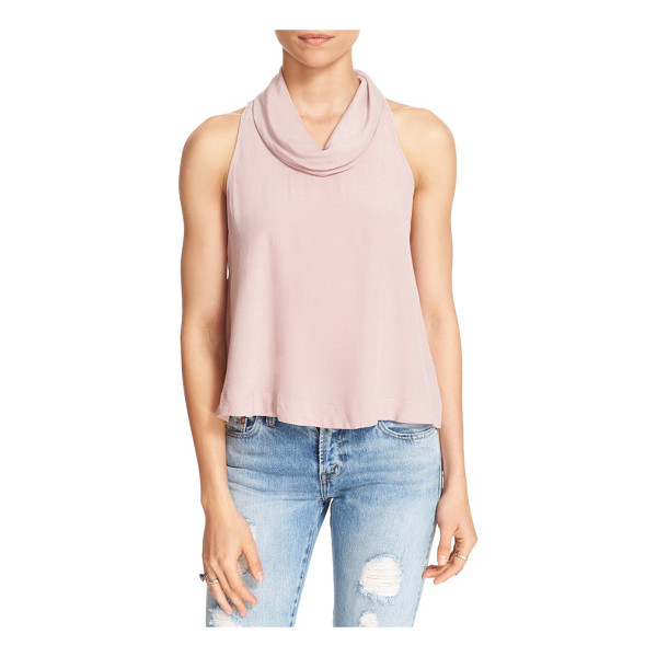 FREE PEOPLE city lights open back cowl top - A demure cowl neck belies the daringly open back of a...