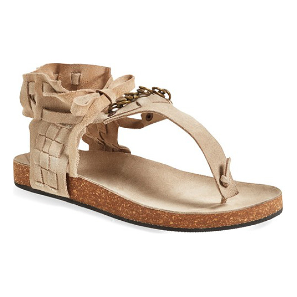 FREE PEOPLE collins ankle cuff sandal - Chain embellishments and a slouchy ankle cuff further the...
