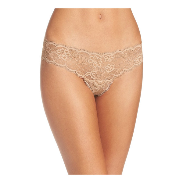 FREE PEOPLE intimately fp come together lace thong - Sweet and simple so you never have to worry about panty...