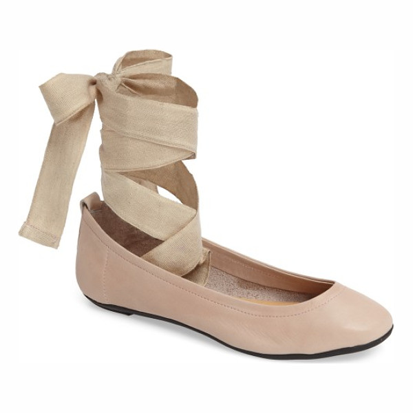 FREE PEOPLE degas ballet flat - A woven wraparound strap adds true ballet style to a