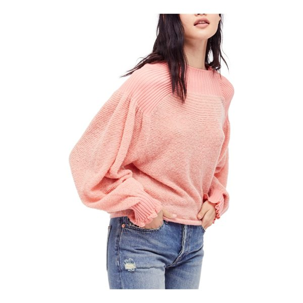 FREE PEOPLE elderflower sweater - Contrast ribbing adds textural intrigue to the yoke and...