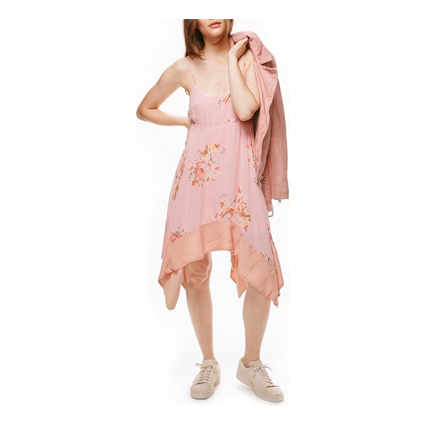 FREE PEOPLE faded bloom swing dress - Breezy and feminine, this pretty pink dress has slender...