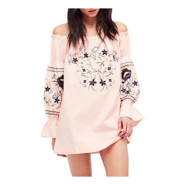 FREE PEOPLE fleur du jour shift dress - Cut with an of-the-moment off-the-shoulder neckline, this...