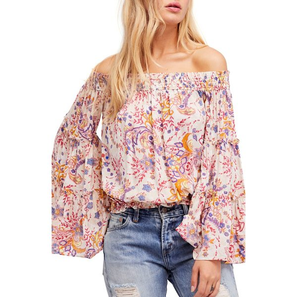 FREE PEOPLE free spirit off the shoulder top - Your own free spirit meets its match in this sweetly...