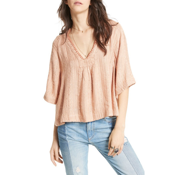 FREE PEOPLE get over it top - Embellished with sparkling sequins and intricate...