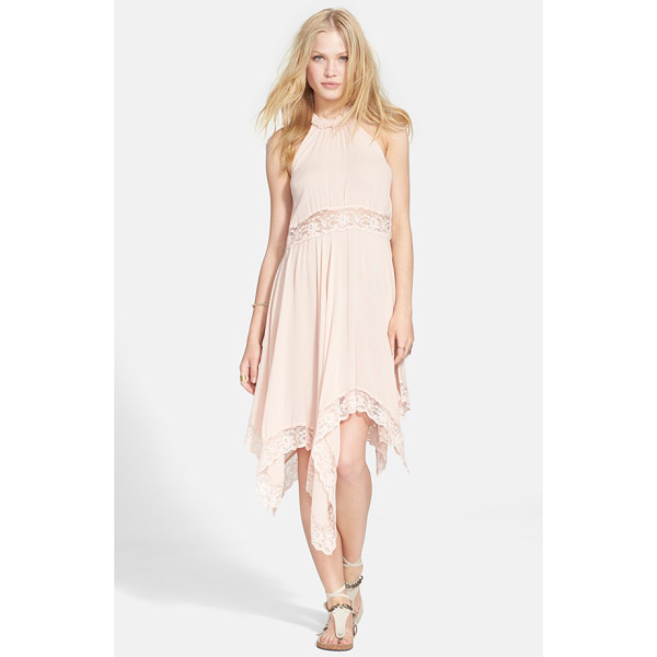 FREE PEOPLE go lightly sheer gauze dress - A high neckline with cutaway shoulders and a swingy skirt...
