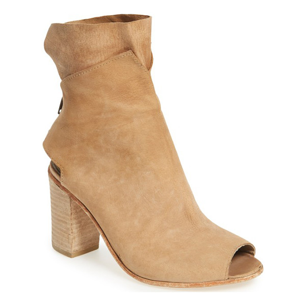 FREE PEOPLE golden road open toe bootie - Sumptuously soft leather distinguishes a chic open-toe...