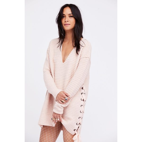 FREE PEOPLE heart it laces sweater - Lustrous chenille yarns bring an extra measure of coziness...