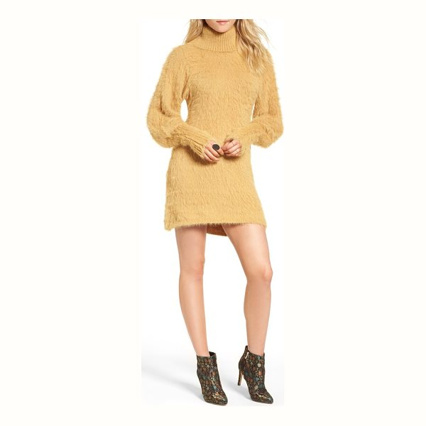 FREE PEOPLE honey turtleneck minidress - When the temps drop, cozy up in this turtleneck mini with a...