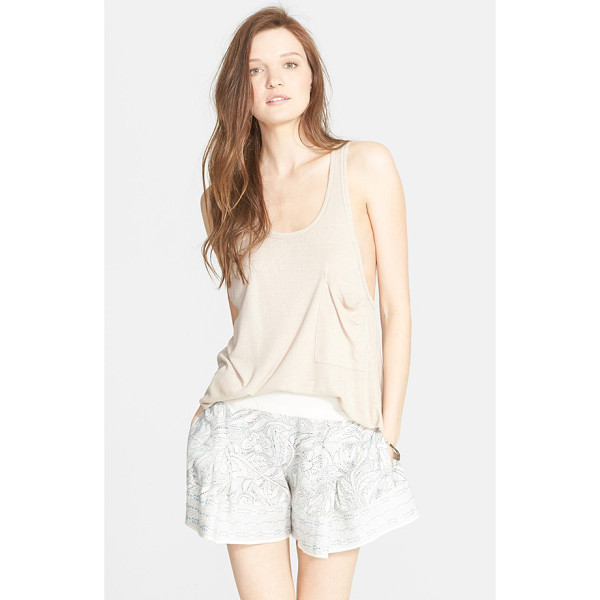 FREE PEOPLE hot pocket tank - This ribbed V-back pocket tank with dropped armholes comes...