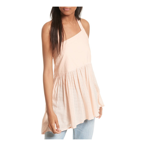 FREE PEOPLE just can't get enough cotton tank - A gracefully sloped halter neckline echoes the asymmetrical...