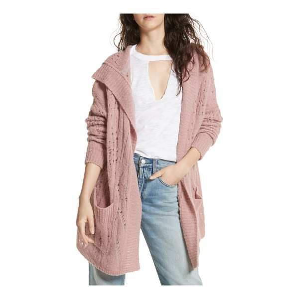 FREE PEOPLE lemon drop hooded cardigan - Elevate your off-duty style with a pointelle-knit cardigan...