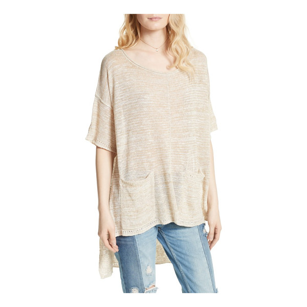 FREE PEOPLE light bright high/low sweater - Slouchy, swingy and ultrasoft, this breezy linen-blend...