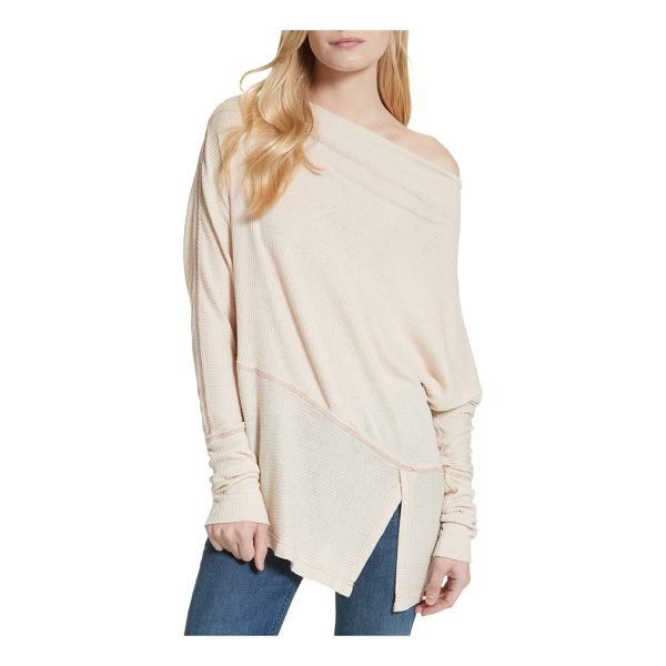 FREE PEOPLE londontown thermal tee - A ribbed knit enhances the casual-chic style of a longline...
