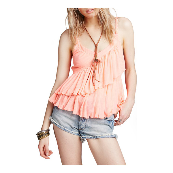 FREE PEOPLE melbourne tank - A flowy tank features slender straps trimmed with delicate...
