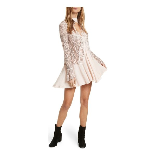 FREE PEOPLE new tell tale lace minidress - An airy minidress turned out in pretty lace and gracefully...