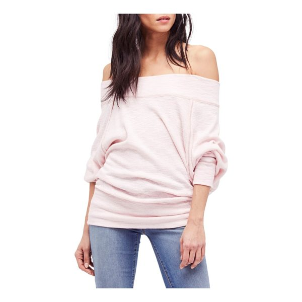 FREE PEOPLE palisades off the shoulder top - Slouchy dolman sleeves and off-the-shoulder styling make...