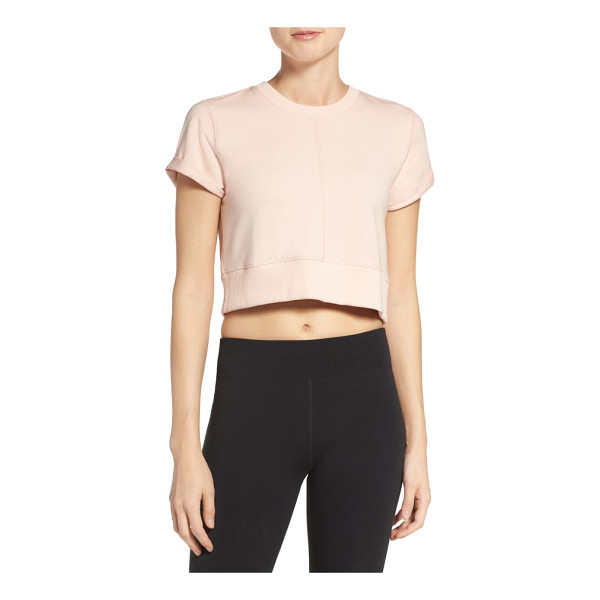 FREE PEOPLE fp movement power tee - Modish and sporty, this cute cropped tee has architectural...
