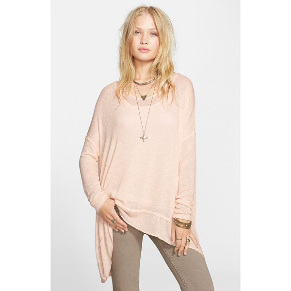 FREE PEOPLE shadow oversize hacci open back top - A lightweight hacci-knit top features a drapey, relaxed-fit...