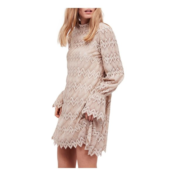 FREE PEOPLE simone minidress - Two different crochet patterns add pretty dimension to this...