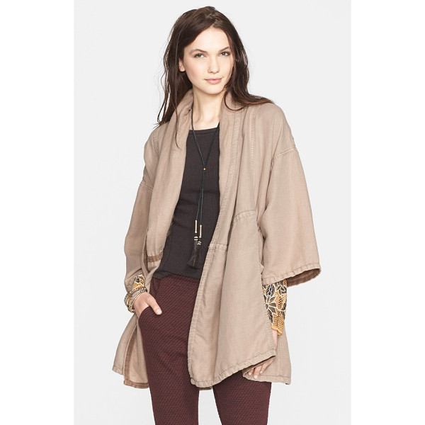 FREE PEOPLE slouchy coat - An internal drawstring at the midsection and roomy,...