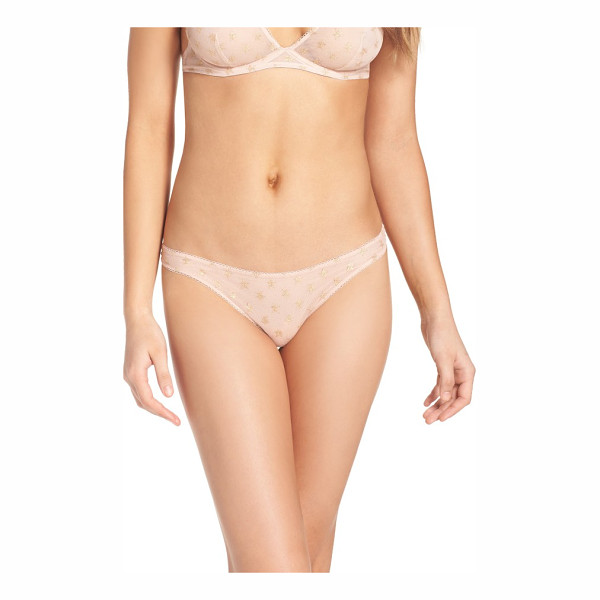 FREE PEOPLE intimately fp star mesh thong - Foiled stars spangle a super-lightweight thong polished...