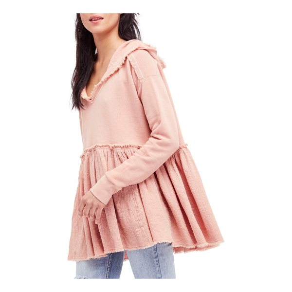 FREE PEOPLE summer dreams hooded pullover - A flouncy, skirted hemline adds a playful update to a...