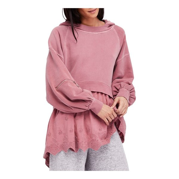 FREE PEOPLE sweet streets hoodie - The slouchy washed-down hoodie has a flair for the feminine...