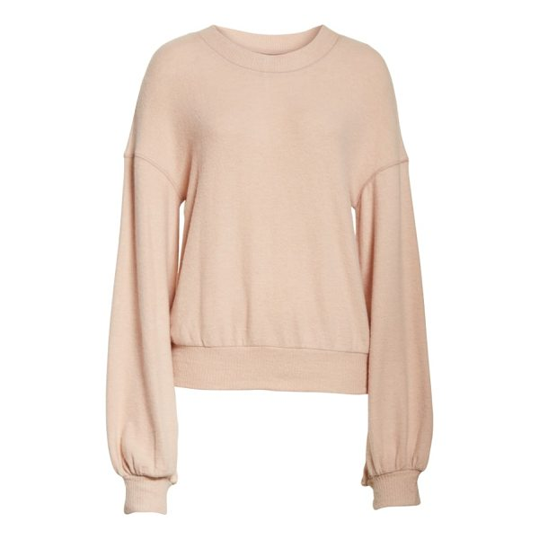FREE PEOPLE tgif pullover - Add some glamour to your off-duty wardrobe with this...