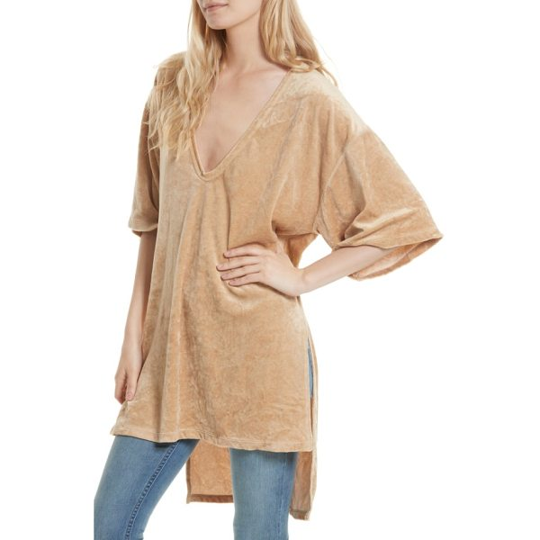 FREE PEOPLE the luxe tee - Leisure and luxury strike a perfect balance on a boxy,...