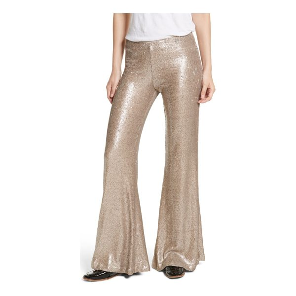FREE PEOPLE the minx sequin flare pants - Hit the club as your own personal disco ball in ultra-wide...