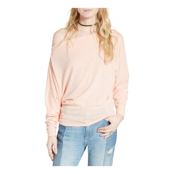 FREE PEOPLE valencia off the shoulder pullover - Softly marled yarns create atmospheric color on a...