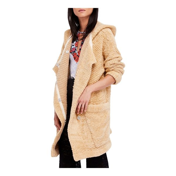 FREE PEOPLE warm wishes hooded sweater jacket - The softness of your favorite sweater and the oversized fit...