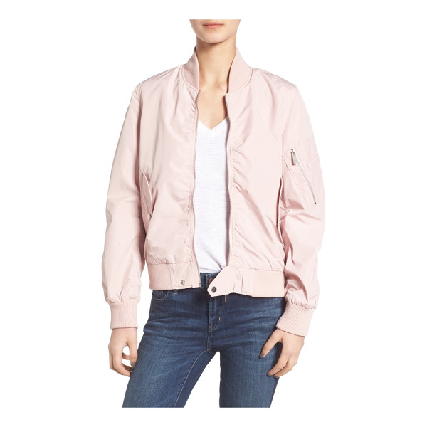 FRENCH CONNECTION bomber jacket - A zip sleeve pocket with pen-holder inset authenticates the...