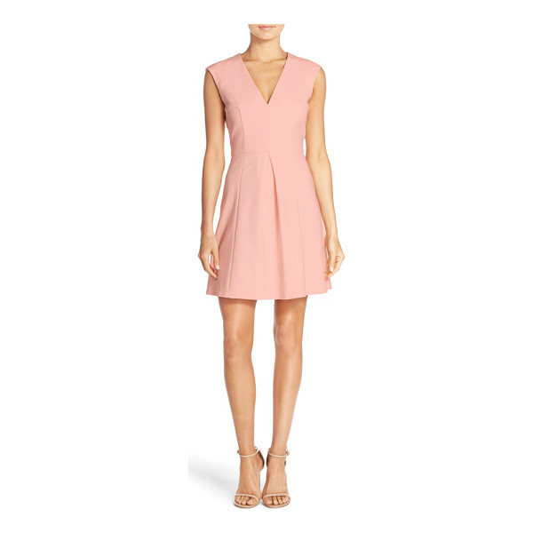 FRENCH CONNECTION capri seamed fit & flare dress - Sleek seaming puts a contemporary spin on this classically...