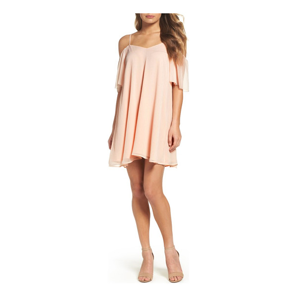 FRENCH CONNECTION constance cold shoulder dress - Stand out at your next big event in a classic fit-and-flare...
