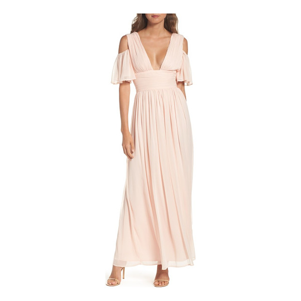 FRENCH CONNECTION constance cold shoulder maxi dress - Stand out at your next big event in a chiffon maxi made...