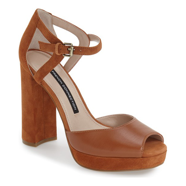 FRENCH CONNECTION dita platform sandal - A flirty peep toe and alluring d'Orsay profile are balanced...