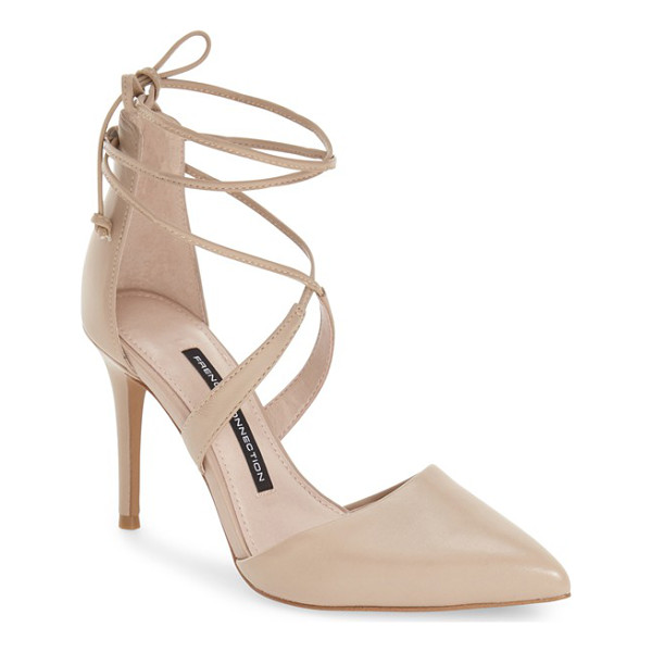 FRENCH CONNECTION elise dorsay wraparound lace pump - A pointy toe and a sultry d'Orsay profile balance flirty...