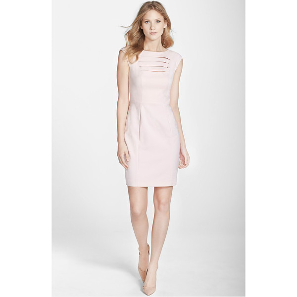 FRENCH CONNECTION estelle bar front sheath dress - Slender bar cutouts on the bodice add a bit of sass to an...