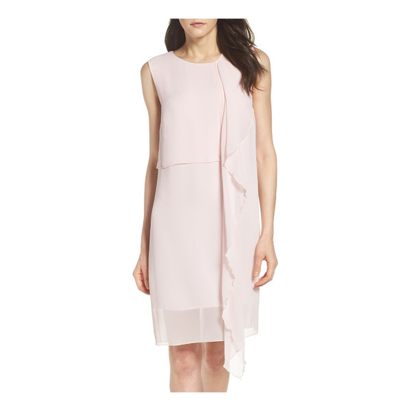 FRENCH CONNECTION james sheath dress - A slinky sheath commands attention with fluttering ruffles...